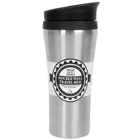 Large 400ml Slimline Stainless Steel Travel Cup